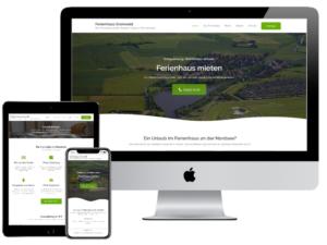 Referenz Webdesign Ferienhaus Gronwald