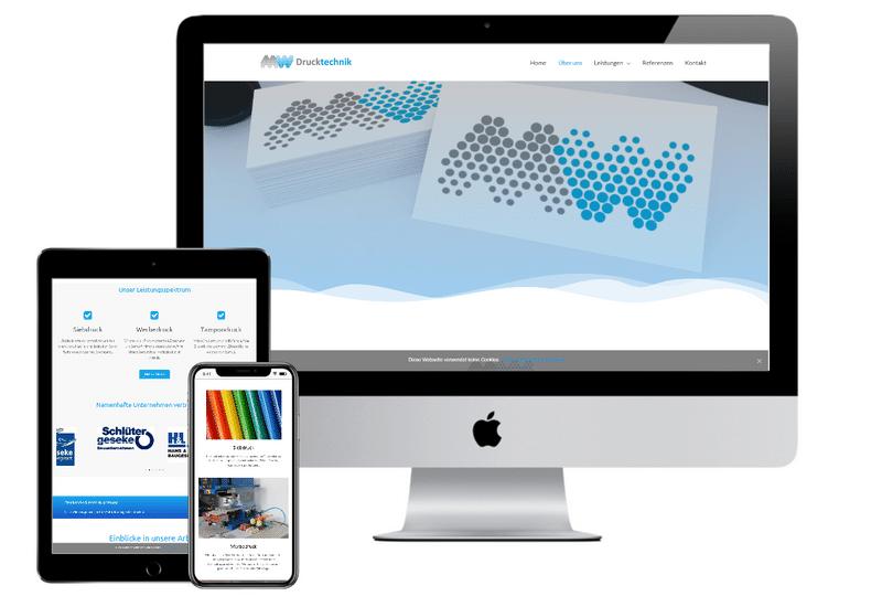Referenz Webdesign MW Drucktechnik
