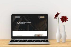 Rechtsanwalt Webdesign Referenz