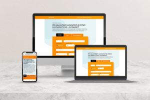 Stromversorger Webdesign Referenz