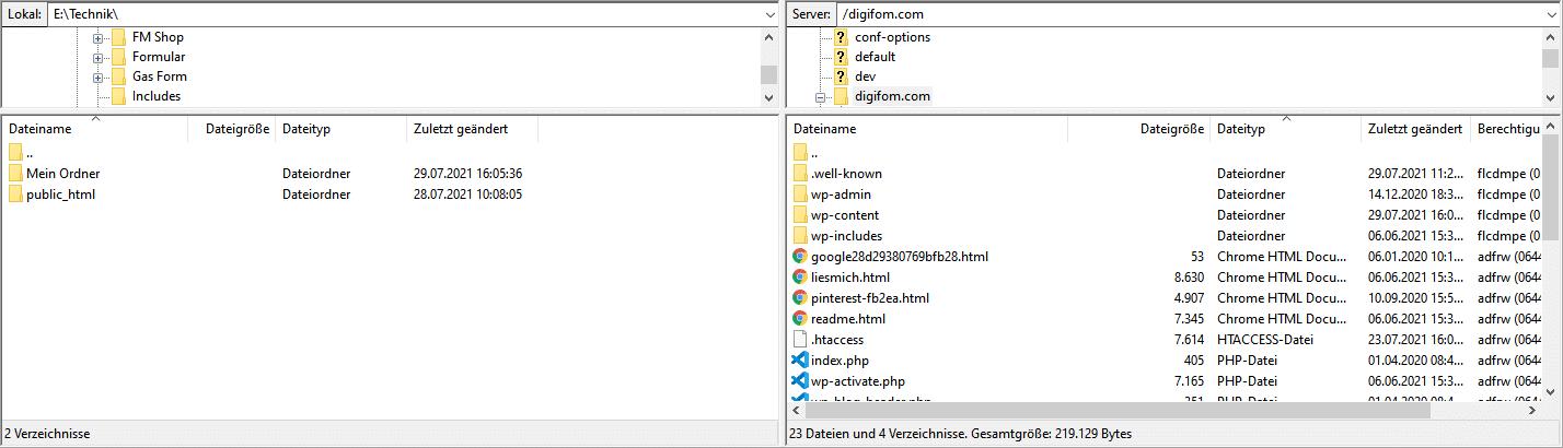 Filezilla Programm