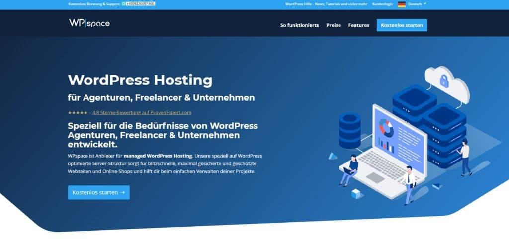 WP-Space Hosting Anbieter
