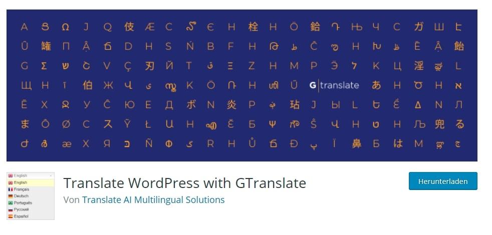 Gtranslate Plugin