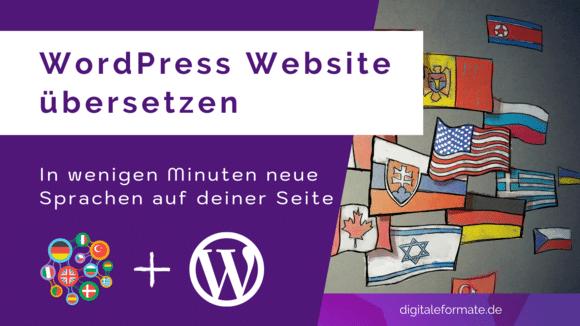 WordPress Mehrsprachig machen Cover